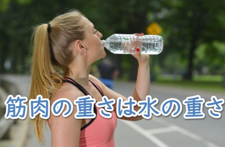 筋肉の重さは水の重さ