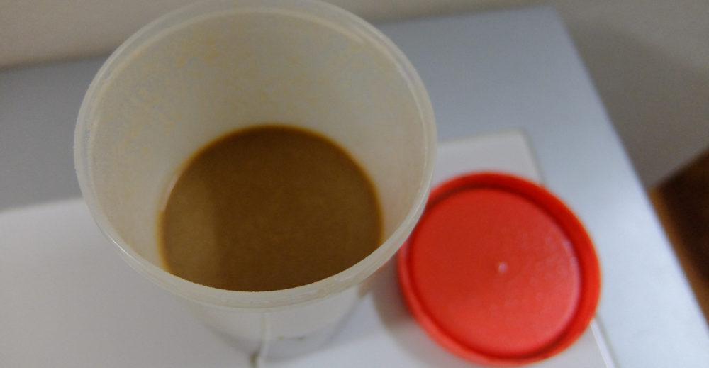 青汁と混ぜたプロテイン
