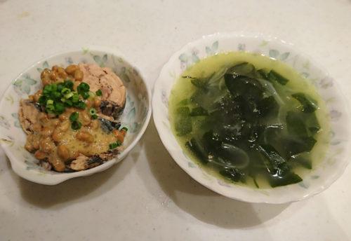 サバ缶納豆
