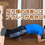 反り腰はプランクで改善します!腹筋を鍛えるポイント解説【動画付き】