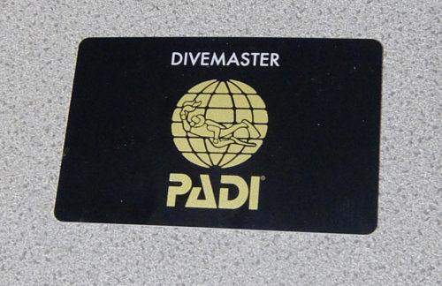 ダイブマスター認定カード