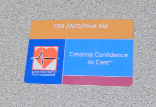 AED使用法認定カード