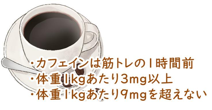 筋トレ前のカフェイン摂取のまとめ