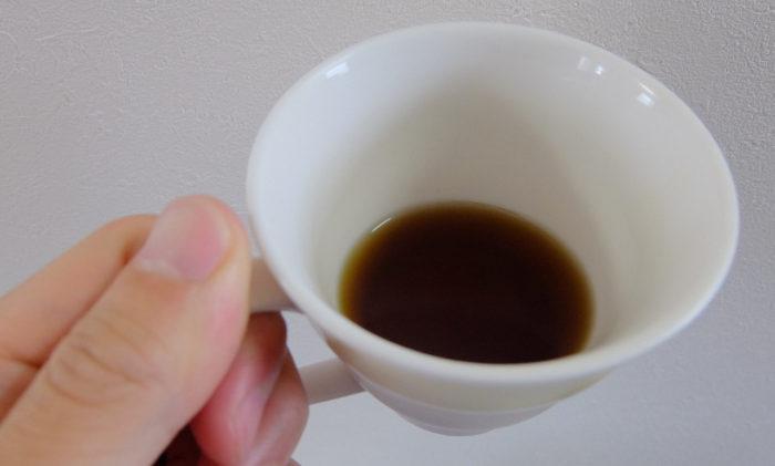半分飲んだからだ楽痩茶