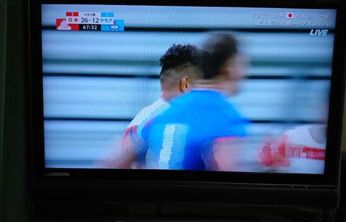 日本対サモアの試合
