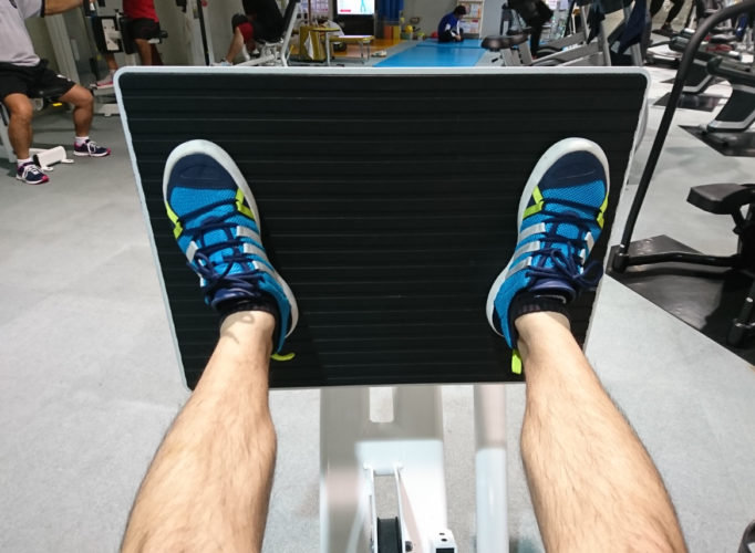 レッグプレスの足の位置