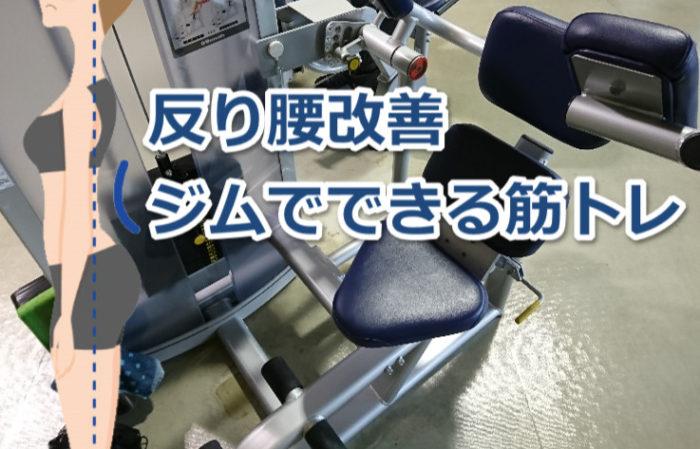 反り腰の人がジムでやるべき筋トレ5種目!腹筋と背筋を鍛えて美姿勢になろう