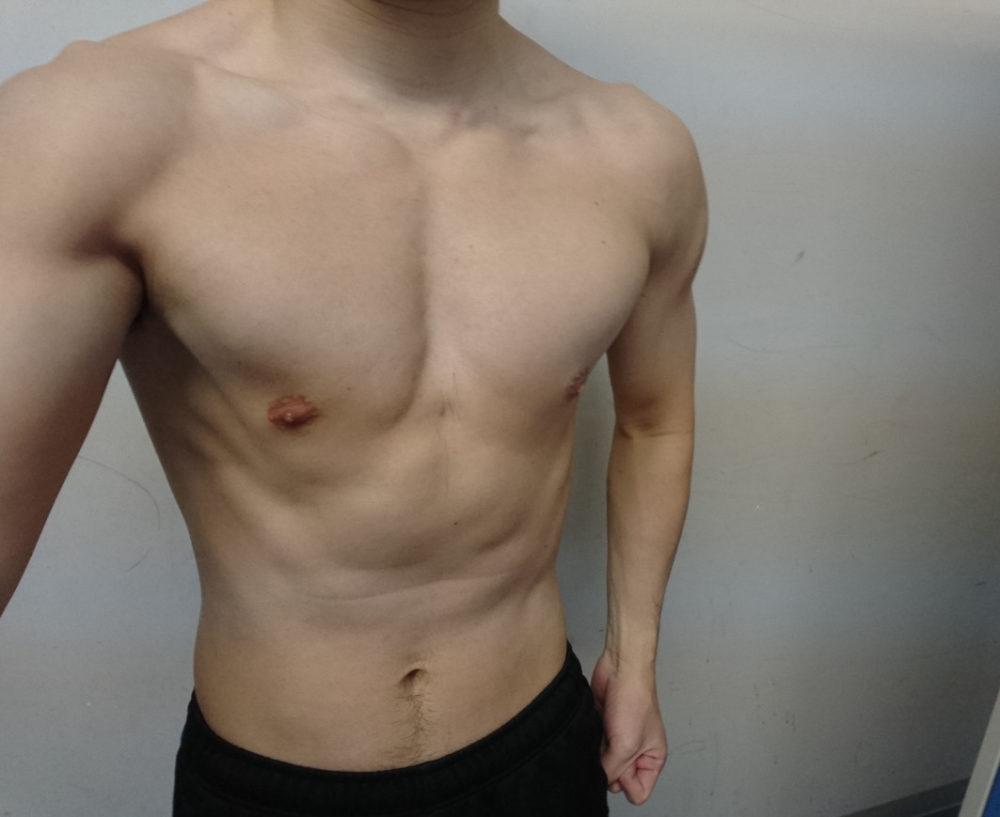 今日の筋トレ後の筋肉