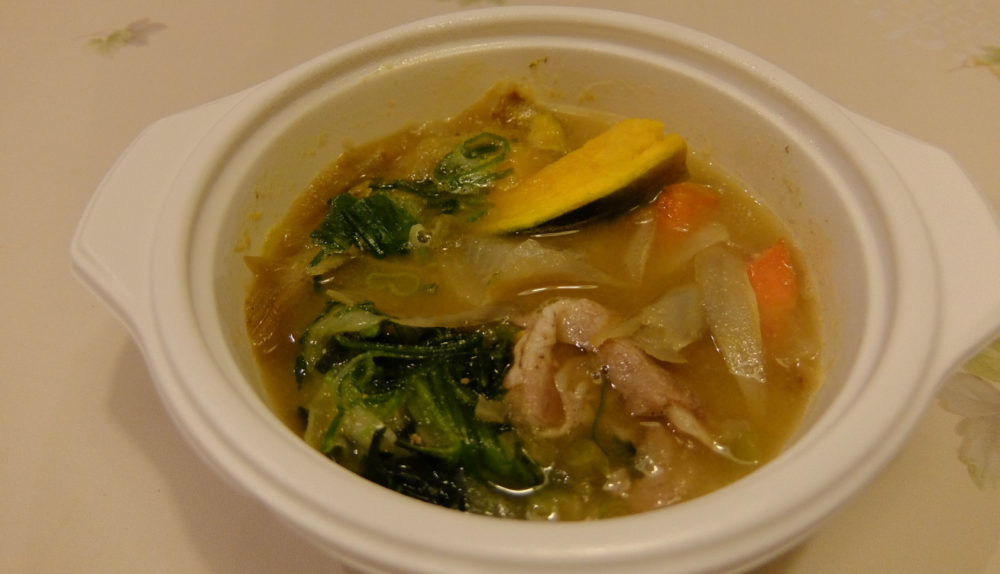 ウェルネスダイニングの豚汁スープ