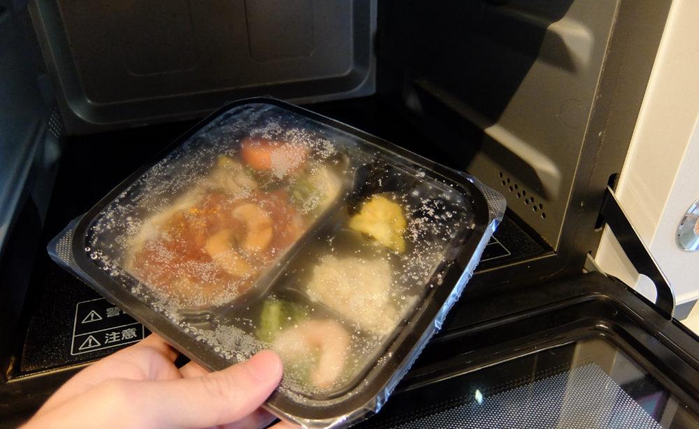 冷凍のお弁当を解凍する