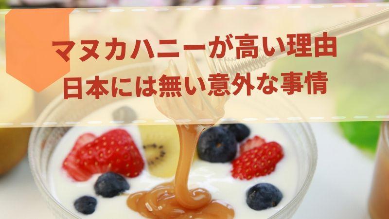 マヌカハニーが高い理由 日本人が気づかない事情について