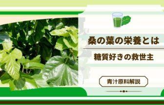 青汁原料「桑の葉」の凄い働き!甘いもの好きは必見!