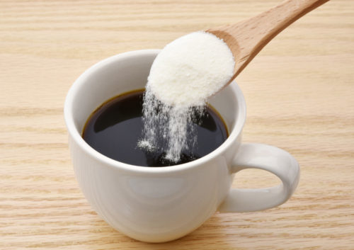 コーヒーに菊芋粉末