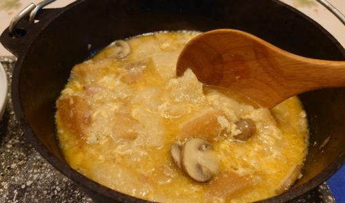 スープに菊芋粉末